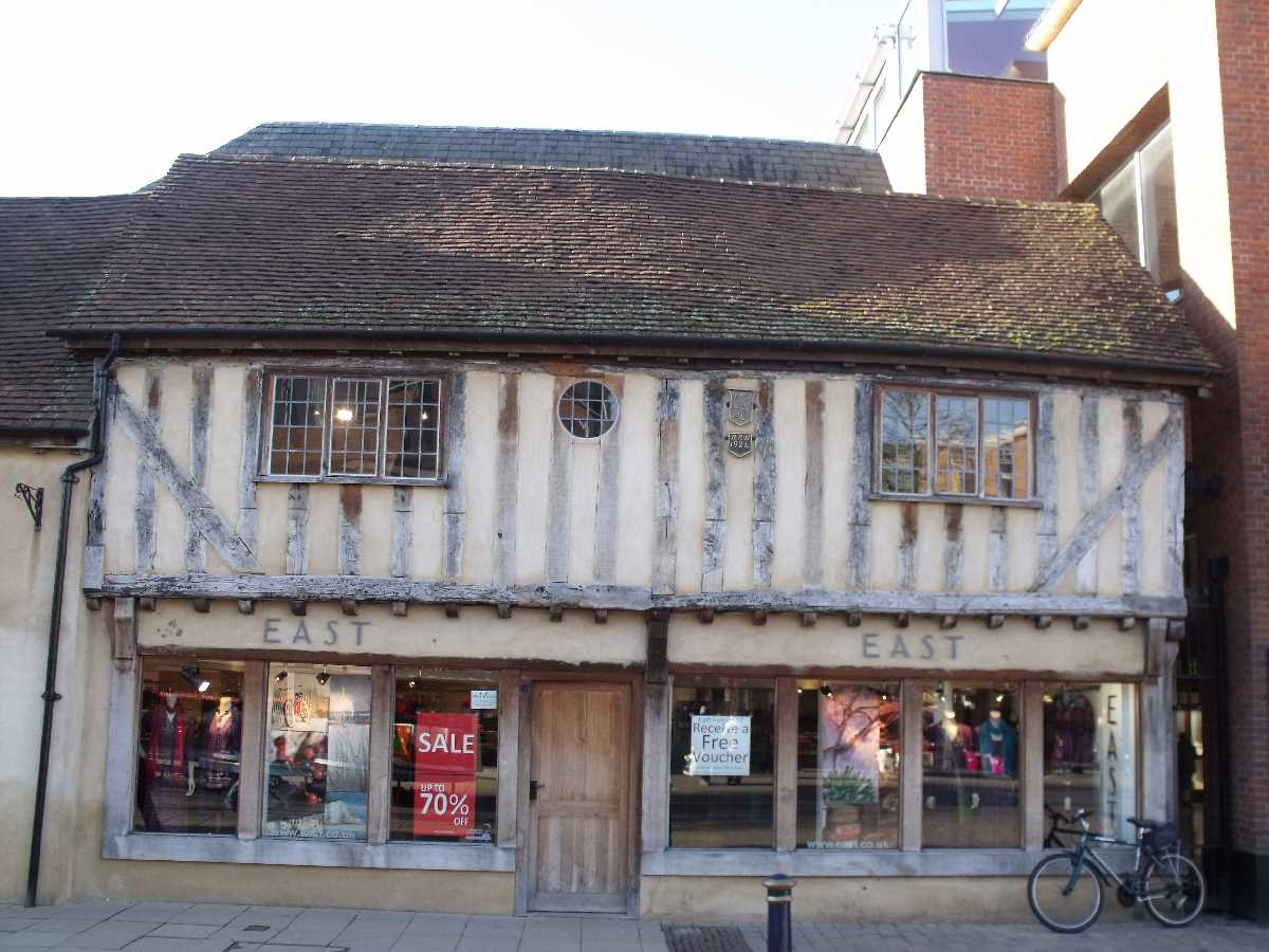 Timber framed building on the Solihull High Street